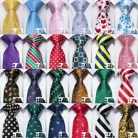 100 Color Mens Tie Necktie Set Red Blue Black Geometric Striped Paisley Business