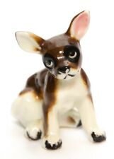Chihuahua Toy Fox Terrier Puppy Dog Small Figurine Porcelain Vintage