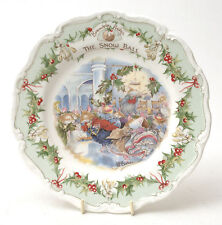 """Royal Doulton Brambly Hedge Porcelain """"The Snow Ball"""" Plate"""