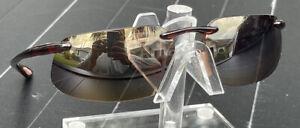 Used Maui Jim Sport 409-10 Kanaha HLC Bonze Polarized Rimless Sunglasses
