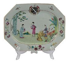 18thC Chinese Export Armorial Famille Rose Porcelain Platter