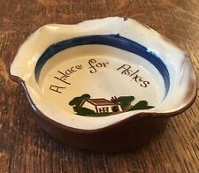 "Longpark Torquay Pottery Mottoware Ashtray 4"" Across"