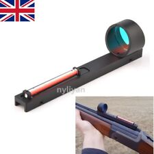 Ultralight Holographic Red Dot Sight Scope Sight&Red Fiber Fit Shotgun Rib Rail