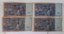 Four GERMAN Ein Hundert Mark Bills From 1910 Berlin~~Large Notes, Quite Pretty