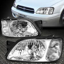 FOR 00-04 SUBARU LEGACY L BRIGHTON CHROME HOUSING CLEAR CORNER HEADLIGHT LAMPS