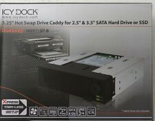 "Icy Dock MB971SP-B 2.5"" & 3.5""  SATA Drive Hot Swap Drive 5.25"" Caddy"