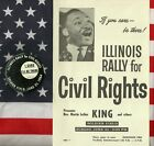 Civil Rights Martin Luther King Political Campaign Pinback Button Poster 1964 IL