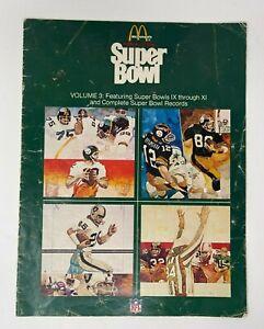 McDonalds History of the Super Bowl IX XL NFL Souvenir Volume 3 Vintage 1977