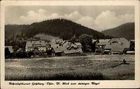 Gehlberg Thüringer Wald DDR s/w AK 1954 Panorama mit Blick zum steinigen Hügel