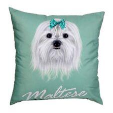 "Lovely Female Maltese Dog Face Print Cotton 18"" X 18"" Cushion Cover Pillow Sofa"