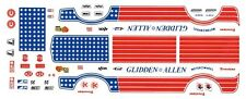 GLIDDEN & ALLEN FORD PINTO Stars n Stripes 1/64th Ho Scale Decals