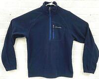 Columbia 1/4 Zip Fleece Pullover Long Sleeve Men's Size Small Blue