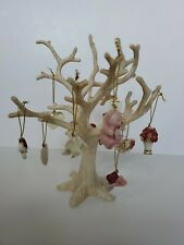 "Lenox Valentines Day Be Mine Tree 8.25in. "" with 12 Ornaments Gold Accents ."