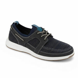 Dockers Mens Vaughan Smart Series Leather Boat Shoe 4-Way Stretch and NeverWet