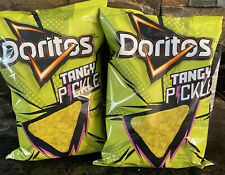 3 Bags Doritos Tangy Pickle Chips Limited Edition - 9 3/4 Oz X 3
