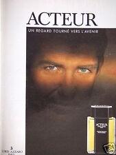 PUBLICITÉ 1989 ACTEUR LORIS AZZARO UN REGARD TOURNÉ VERS L'AVENIR - ADVERTISING
