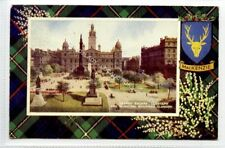 (Ld2212-465) George Square, GLASGOW Mackenzie Tartan, 1952 Used G-VG