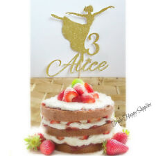 Ballerina Cake Topper Personalizzato Nome Personalizzato, Ragazze Età Compleanno 16 Glitter