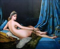 Quality Hand Painted Oil Painting Repro Jean-Auguste Odalisque 20x24in