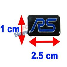 New! FOCUS RS MINI WHEEL BADGE STICKER EMBLEM 100% GENUINE FORD 1556159