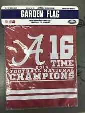 University of Alabama Crimson 2015 National Champions Garden Flag