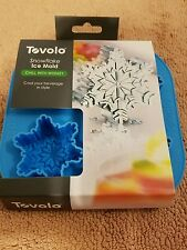 NEW Tovolo Snowflake Blue Silicone Ice Tray In Original Package