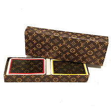 Rare Vintage Louis Vuitton Double Deck Playing Cards In Box
