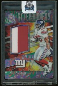 2019 Panini Spectra Psychedelic Prizm Saquon Barkley Giants RC Rookie Patch /5