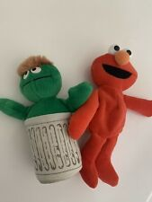 "Applause VINTAGE Sesame Street Oscar The GroucH Elmo 7"" Plush STUFFED ANIMAL Toy"