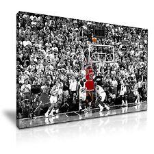 Michael Jordan The Winning Shot Canvas Modern Wall Art 76x50cm