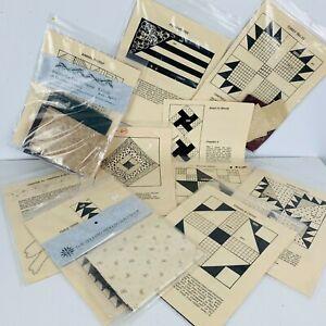 10 Kansas Troubles Historic Quilt Kits Patterns Civil War Journal Moda Fabric