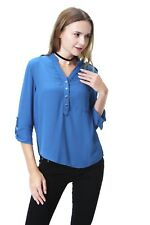 Women's Chiffon Shirt/Blouse/Top Blue Size 14
