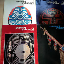 LOT OF 4 AMERICAN INDIAN ART MAGAZINES 1980/81-SUPERB COLOR PLATES/FOLK ART N FN
