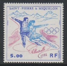St Pierre & Miquelon - 1992, Winter Olympic Games stamp - MNH - SG 677