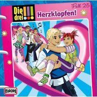 DIE DREI !!! - 025/HERZKLOPFEN!  CD  KINDER-HÖRSPIEL  NEU