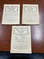 Vintage Baseball Magazine Who's Who 1926 1933 1935