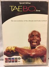 Tae Bo Live 4 workout Set instructional basic advanced 8 min Billy Blanks cardio