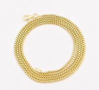 1.7mm Round Box Chain Necklace Real 14K Yellow Gold Clad Sterling Silver 925