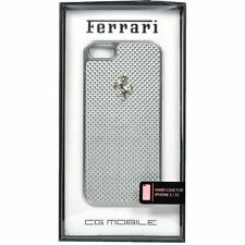 Ferrari Official iPhone 5 5S Silver GT Carbon Fiber Hard Case FECBSIHCP5WH