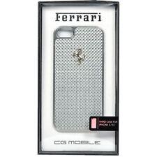 Ferrari Official iPhone 5 5S Silver GT Carbon Fiber Hard Case FECBSIHCP5WH
