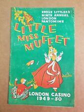 Rare LITTLE MISS MUFFET London Casino Theatre Programme 1949 - 50 CAROLE LYNN