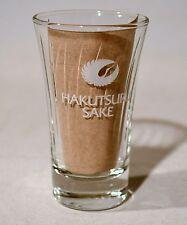 Hakutsuru Sake Rice Wine Clear Glass Shot Glass Japanese 65 ml 2oz