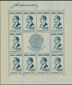 BRAZIL 1938 1 Year New Constitution U/M MS w 10x400 R President Varga VARIETY