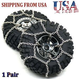 1 Pair Anti Skid Snow Tire Safety Flexible Chains for 1/10 RC Traxxas TRX-4 Car