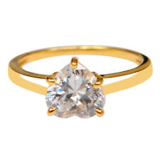 cf167b65e6d8 2.25 Quilates Sólido impresionante forma de corazón 14KT Oro Amarillo Anillo  De Aniversario