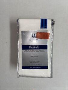Wamsutta 500-Thread-Count PimaCott King Bed Skirt in White