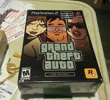 GRAND THEFT AUTO TRILOGY SAN ANDREAS VICE CITY 3 BLACK LABEL PS2 FACT SEALED NEW