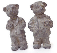 2 Vintage Lead Dressed Bear Figures - one in Tux, one in Suit