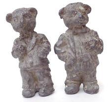 2 Vintage Lead Dressed Bear Figures - one in Tux, one in Suit
