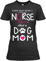 Being A Nurse And Dog Mom Gildan Women's Tee T-Shirt